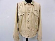"Diesel Mens Vintage Denim Jacket Biege Size XXL 52"" Grade A WB166"