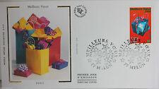 ENVELOPPE PREMIER JOUR - 9 x 16,5 cm - ANNEE 1999 - MEILLEURS VOEUX