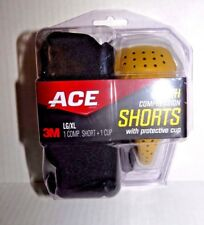Ace NEW Youth Compression Shorts w/ Protective Cup - LARGE / X LARGE for Sports
