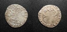Henri IV - douzain du dauphiné aux 2H, 2ème type, Grenoble - Dy#1257
