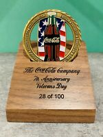 2006 Coca-Cola Veterans Day RARE Challenge Coin VIP Box Set! Numbered to 100!