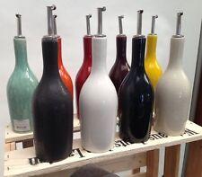 Jars Ceramistes Keramik Tourron - celeste schwarz Essigflasche Ölflasche 0,5 L