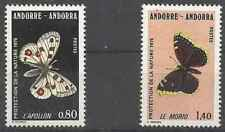 Timbres Papillons Andorre 258/9 ** lot 28617