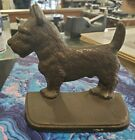 """Vintage Art Deco Frankart Style Cast Iron Terrier Bookend  5.25""""x5"""" Marked S212"""