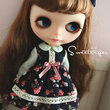 """【Tii】cute dress outfit 12"""" 1/6 doll Blythe/Pullip/azone Clothes Handmade girl"""