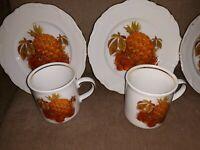 1960's Winterling Bavarian Dessert/Salad Plates and cups 4 piece set!