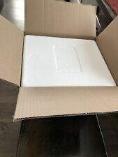 Styrofoam Insulated Cooler Container with box and 2 gel packs 13.5x11.5x10
