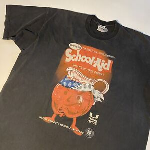 Vtg 90s-Y2K Kool-aid Kool Aid Bootleg Street Humor T-shirt Men's 4XL Rap Style