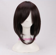 Registre cos Oscuro Marrón Peluca Cosplay CARRÉ Corta + un casquillo de la peluca