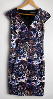 ANTHEA CRAWFORD divine Floral Faux Gathered Wrap Dress Size 12 As New