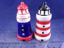 Cracker Barrel Mini Nautical Ocean Beacon Light House Salt Pepper Shaker CB1843