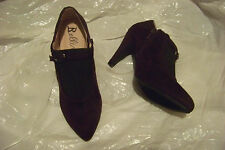 womens bellini purple and black fabric high heel booties shoes size 6