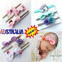 3X Headband Baby Girl Toddler Newborn Small Flower Nylon Hair Band Accessory VW