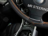 Pour BMW E36 3 Série 90 + Vrai Housse Volant Cuir Orange Double Point
