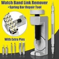Metal Adjustable Watch Band Strap Bracelet Link Pin Remover Repair Tool Kit Ku