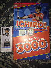 Ichiro Suzuki Signed Official Hall of Fame Baseball & Bobblehead 3000 PSA/DNA #2
