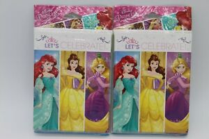 2 Disney Princess Let's Celebrate Party Invitations & Thank You 8 Per Package