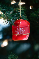 President Donald J Trump Keep America Great MAGA Christmas Tree Hat Ornament