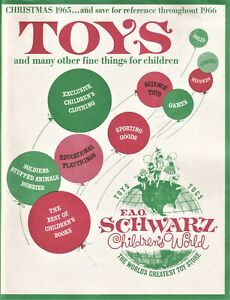 FAO SCHWARZ TOY CATALOG 1965  Rare & Desirable with all inserts