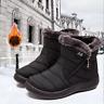Warm Snow Boots Women's Winter Ankle Bootie Fur Lined Waterproof Outdoor Shoes