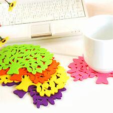 5pcs Filz-Untersetzer Cup-Matten-Auflage Bowl Glasplatte Tasse Coaster Zufall