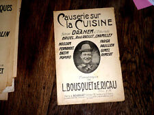 causerie sur la cuisine répertoire Dranem avec chant 1907 Bousquet et Ricau