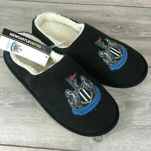 BNWT MENS SLIPPERS SIZE 7-11 NEWCASTLE UNITED FOOTBALL CLUB OFFICIAL MERCHANDISE