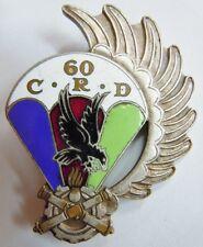 Insigne Parachutiste 10° DP 60° CRD  AFN GUERRE D'ALGERIE  ORIGINAL