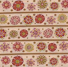 QUILT FABRIC BY THE YARD: KEEPSAKE FANCY FLORAL STRIPE 0717611, 100% COTTON