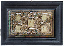 antique RELIQUARY RELICS  AND HUGES AGNUS DEI AND RELIC HOLY CROSS 18Th.