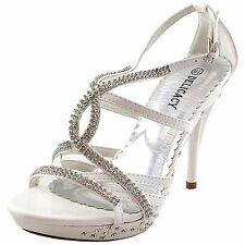 New women's shoes rhinestones stilettos buckle party prom wedding formal white