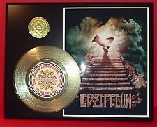 LED ZEPPELIN GOLD 45 RECORD LIMITED EDITION  LASER ETCHED W/SONG'S LYRICS