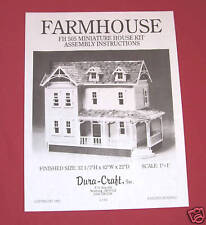 Dura-Craft *FARM HOUSE* FH-505 Dollhouse Instructions *OFFERING DIGITAL DELIVERY