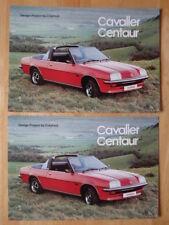 Accord de 2-4-1 Crayford Vauxhall Cavalier Centaur Cabriolet 1978 rare brochure