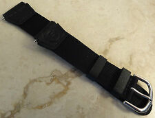 "Ultra Thin Timex ""Field"" Expedition Black Nylon Water Resistant 18mm Watch Band"