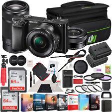 Sony a6000 Alpha Mirrorless Digital Camera 2 Lens Kit 16-50mm & 55-210mm Bundle