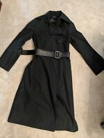 Mackage XS Black Trench Coat Leather Belt