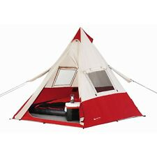Camping Tent Set with TeePee Tent, Queen Air Matress & 2 Sleeping Bags