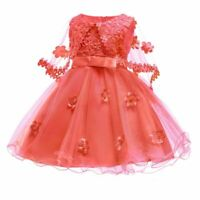 Formal princess girl party dress dresses flower tutu baby wedding bridesmaid kid