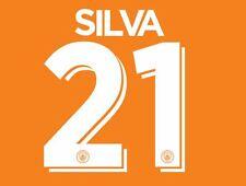 Silva 21 Manchester City 2016-2017 Cup Nameset for Third Football Shirt