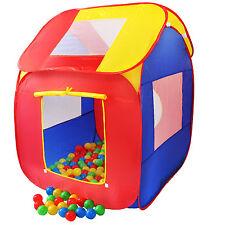 KIDUKU® Tente de jeu Pop Up + 200 balles + étui de transport enfant maison