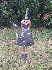 Halloween Decoration Metal Mischief Witch Figurine Home Garden Decor