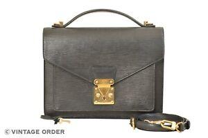 Louis Vuitton Black Epi Monceau 28 Hand Bag Briefcase M52122 - YH00024