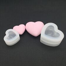 3D Heart Shape Silicone Mold Resin Clay Soap Fondant Chocolate Sugarcraft Cake