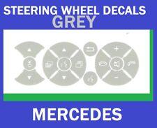 Replacement Grey Steering Wheel Button Stickers Mercedes C Class E Class G Class