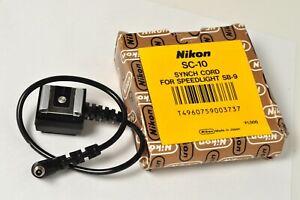 Nikon SC-10 Synch Cord Hot Shoe for Nikkormat Nikon