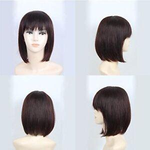 Uk Stock Straight Women Hairpiece 100% Human Hair Topper Hairpiece Flat Bang