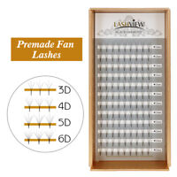 LashView Premade Fan Volume Set Eyelash Extensions 3D-6D Cluster C/D Curl Lashes