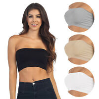 Seamless Bras Stretch Layer Comfort Strapless Bandeau Basic Crop Top Bra Tube