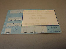 Washington Bullets vs Atlanta Hawks 11-14-1975 At,The Omni Game Ticket Stub